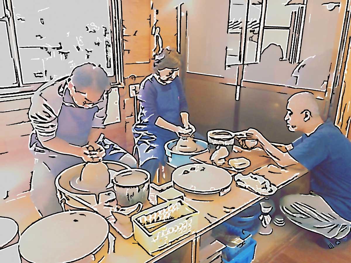 庵久陶芸体験ワークショップ20171115
